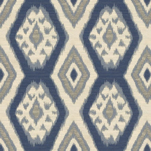 Kravet Ikat Rigi Ink Pillow Cover