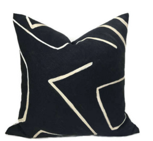 Kelly Wearstler Graffito Pillow Cover in Onyx Beige