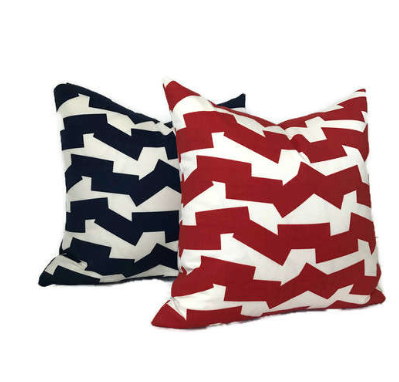 Schumacher Jumble II Outdoor Pillow Cover in Red