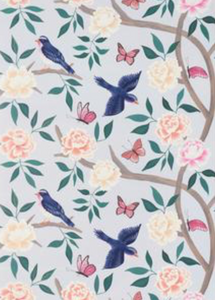 Soft Blue Chinoiserie Wallpaper