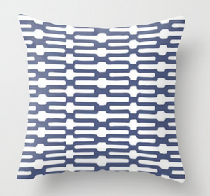 Anne Selke Links Pillow Cover in Indigo Blue