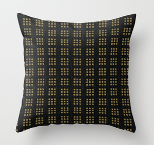 Kelly Wearstler Paradox Pillow Cover in Black Gold