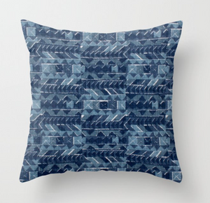 Peter Dunham Zaya Pillow Cover in Blue