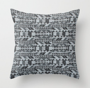 Peter Dunham Zaya Pillow Cover in Charcoal Gray
