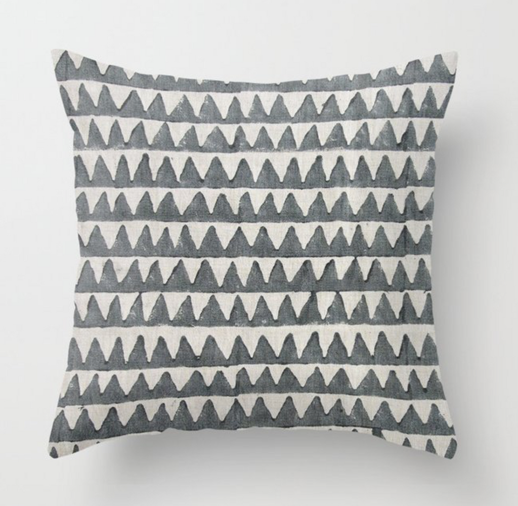 Pyramids Pillow Cover in Slate, Walter G Textiles