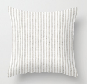 Stripe Pillow Cover in Zinc Grey