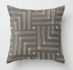 Kelly Wearstler Pastiche Pillow Cover in Mocha Cream