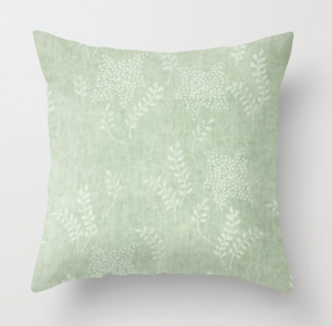Aida Floral Pillow Cover in Sorrel Green