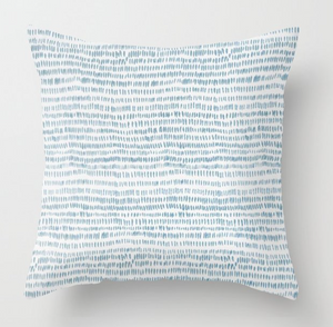 Dashes Pillow Cover in Ocean Blue