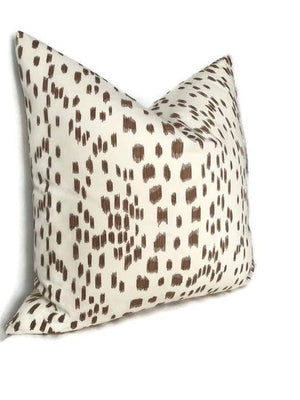 Les Touches Pillow Cover in Tan Brown
