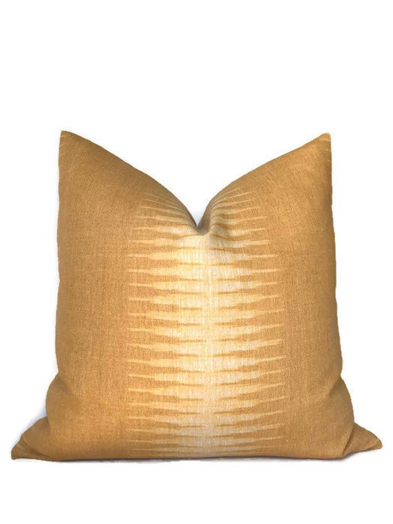 Peter Dunham Ikat Pillow Cover in Aurum