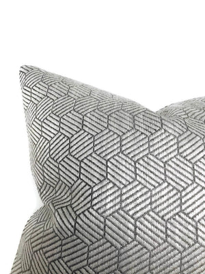 Schumacher Abaco Woven Pillow Cover in Grey