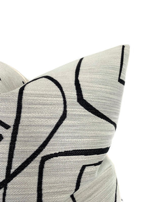 Kravet Abstract Pillow Cover in Ivory Onyx