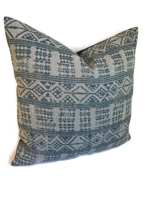 Peter Dunham Addis Pillow Cover in Mist Blue