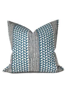 Aegean Stripe Pillow Cover in Sea Indigo