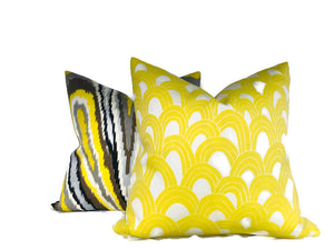 Trina Turk Outdoor Arches Pillow Cover in Bamboo Yellow
