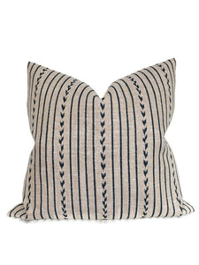 Clay McLaurin Yucatan Stripe Pillow Cover in Indigo