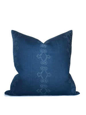 Aswan Pillow Cover in Ink Indigo