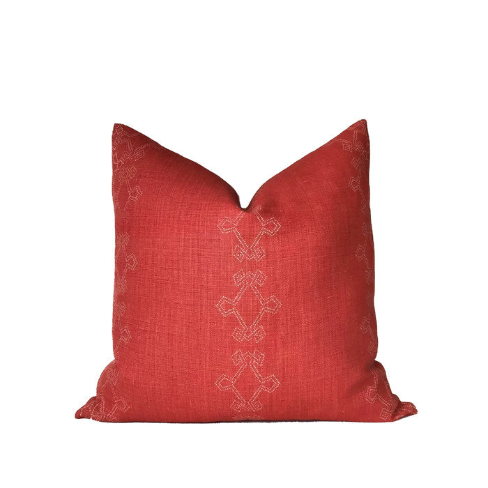 Aswan Pillow Cover in Clementine