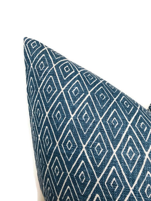 Peter Dunham Atlas Pillow Cover in Indigo Blue