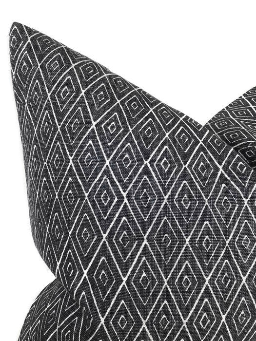 Peter Dunham Atlas Pillow Cover in Charcoal
