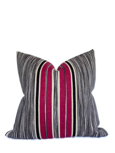 Audley Stripe Pillow Cover in Berry