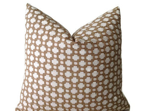 Schumacher Betwixt Pillow Cover in Biscuit