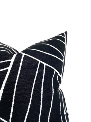 Thibaut Jordan Woven Pillow Cover in Black