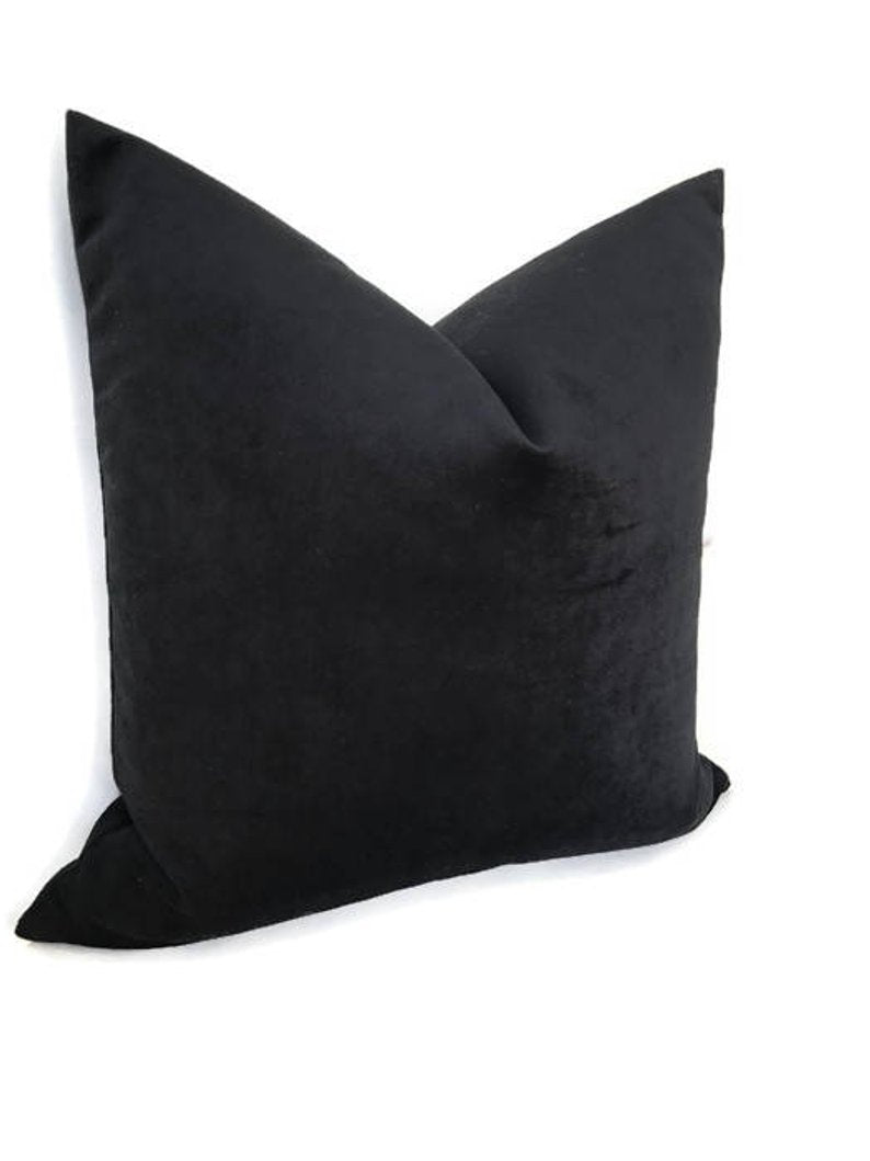 Robert Allen Black Velvet Pillow Cover