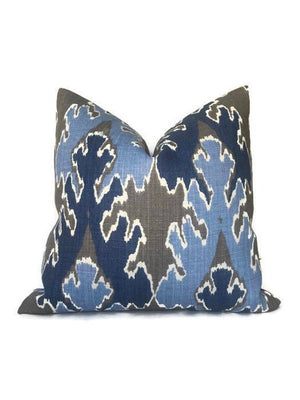 Kelly Wearstler Bengal Bazaar Pillow Cover in Grey Indigo
