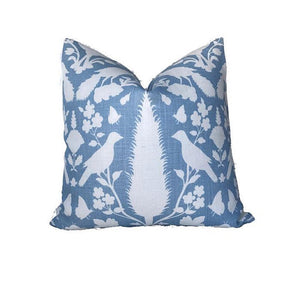 Schumacher Chenonceau Pillow Cover in Sky