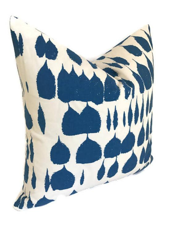 Schumacher Queen of Spain Pillow Cover in Water Blue