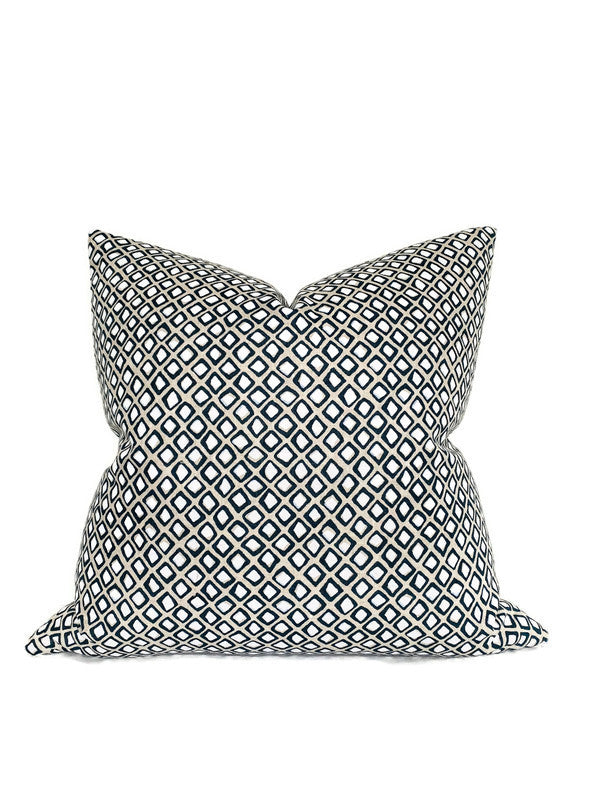 Diamond Buti Pillow Cover in Chalk, Walter G Textiles