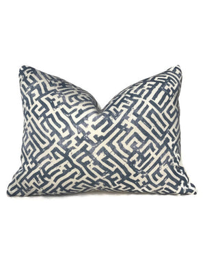 Zak and Fox Basilica Pillow Cover in Byzantine Blue