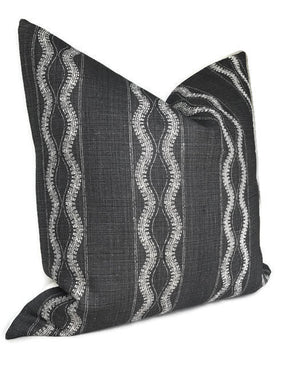 Peter Dunham Zanzibar Pillow Cover in Charcoal