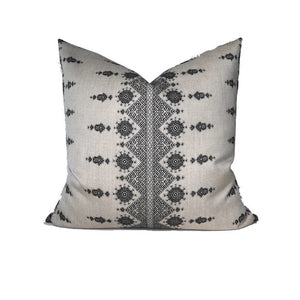 Peter Dunham Carmania Pillow Cover in Charcoal