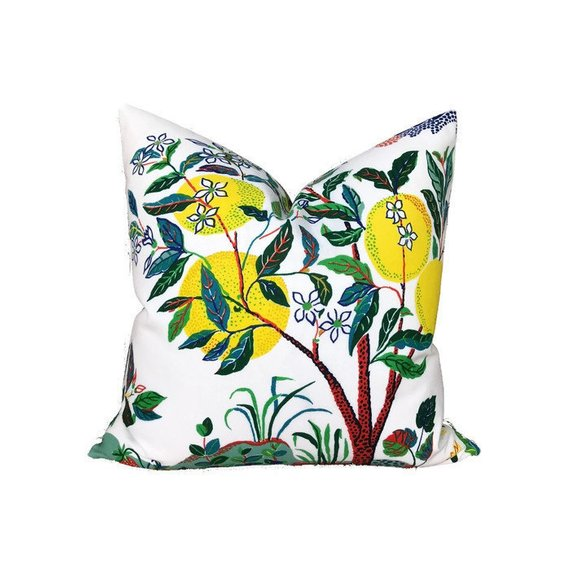 Outdoor Schumacher Citrus Garden Pillow Cover in Primary