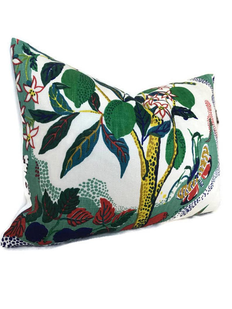 Schumacher Citrus Garden Pillow Cover