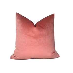 Robert Allen Coral Velvet Pillow Cover