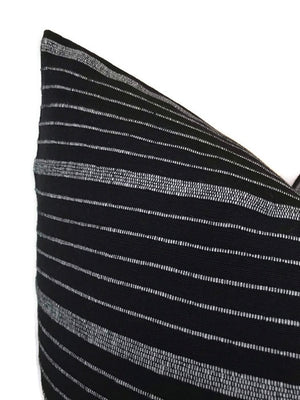 Cusco Stripe Pillow Cover in Jet Black