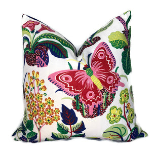 Schumacher Exotic Butterfly Pillow Cover in Spring