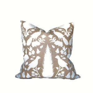 Schumacher Chenonceau Pillow Cover in Fawn