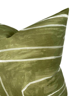 Kelly Wearstler Graffito Pillow Cover in Fern Green