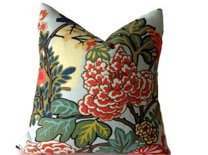 Schumacher Chiang Mai Dragon Pillow Cover in Aquamarine