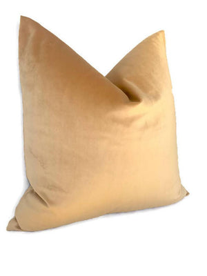 Robert Allen Golden Velvet Pillow Cover