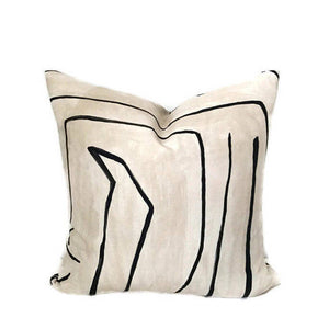 Ready to Ship, 11x63, Graffito Pillow Cover in Linen Onyx