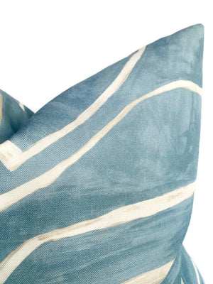 Kelly Wearstler Graffito Pillow Cover in Deep Sky