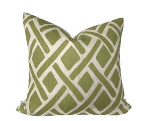 Kravet Tread Laguna Trellis Pillow Cover in New Leaf