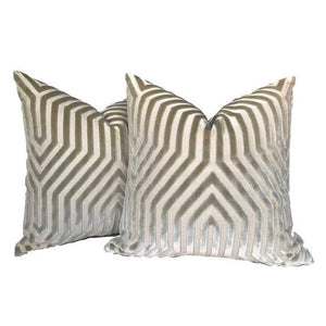 Schumacher Vanderbilt Pillow Cover in Greige