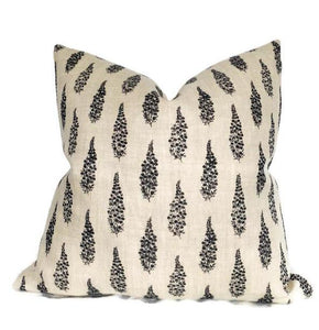 Clay McLaurin Hollyhock Pillow Cover in Jet